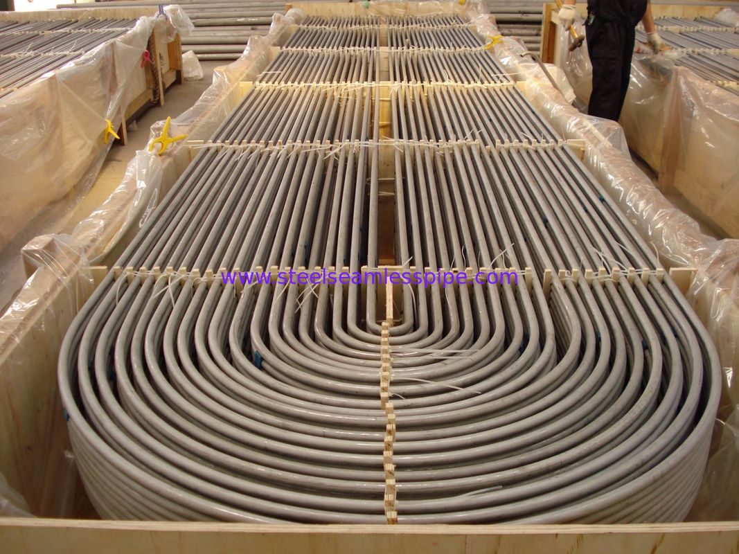 "ASTM A213 / ASME SA213  TP321 / TP321H /TP347H 3/4"" , 100% ET & HT , Stainless Steel U Bend Tube For Heating Application"