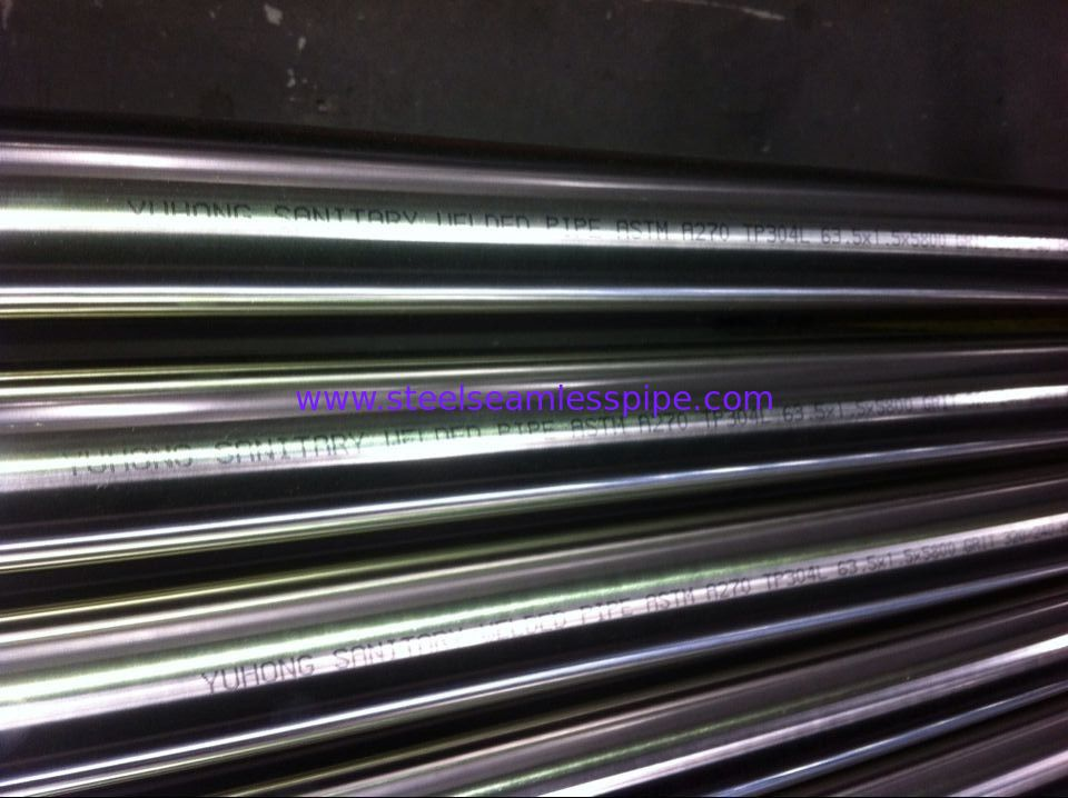 ASME SA270 / ASTM A270 Sanitary Seamless & Welded Tube 180/240/320/400/600Grit Polished Inside Outside TP304 TP316L