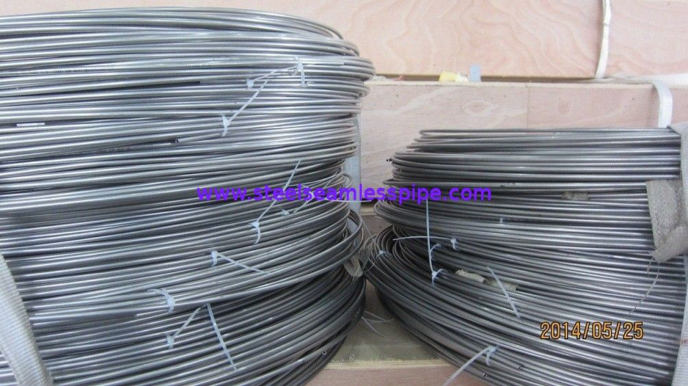 Bright Annealed Seamless Stainless Steel Coil Tubing A269 TP316L High Performance