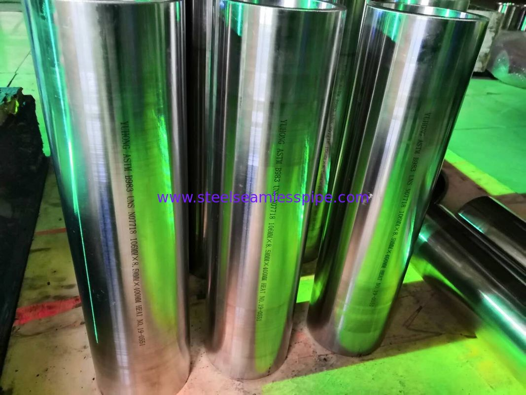 Inconel Tubing, ASTM B983 UNS N07718, 106*8.5*400MM, Nickel alloy steel