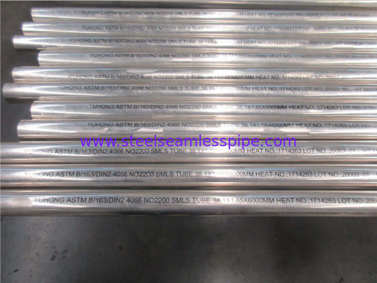 Nickel Alloy Steel Seamless Tube ASTM B163/ DIN2.4066 NO2200, Hastelloy C22,38.1*1.65*6000MM