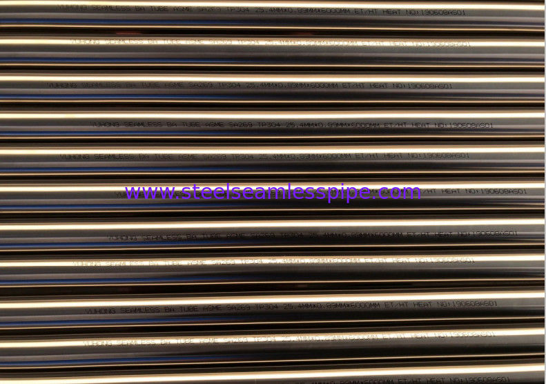Seamless Welded Bright Annealed Tube ASME SA269 ASTM A269 Cold Rolling
